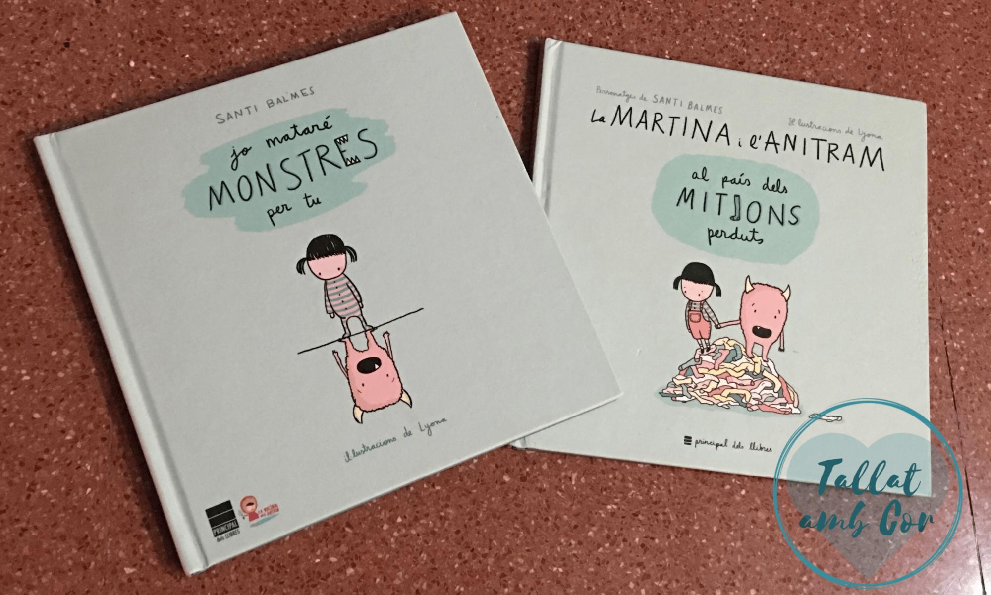 Portada de los dos libros en que Martina y Anitram son las protagonistas: Yo mataré monstruos por ti y En el país de los calcetines perdidos.